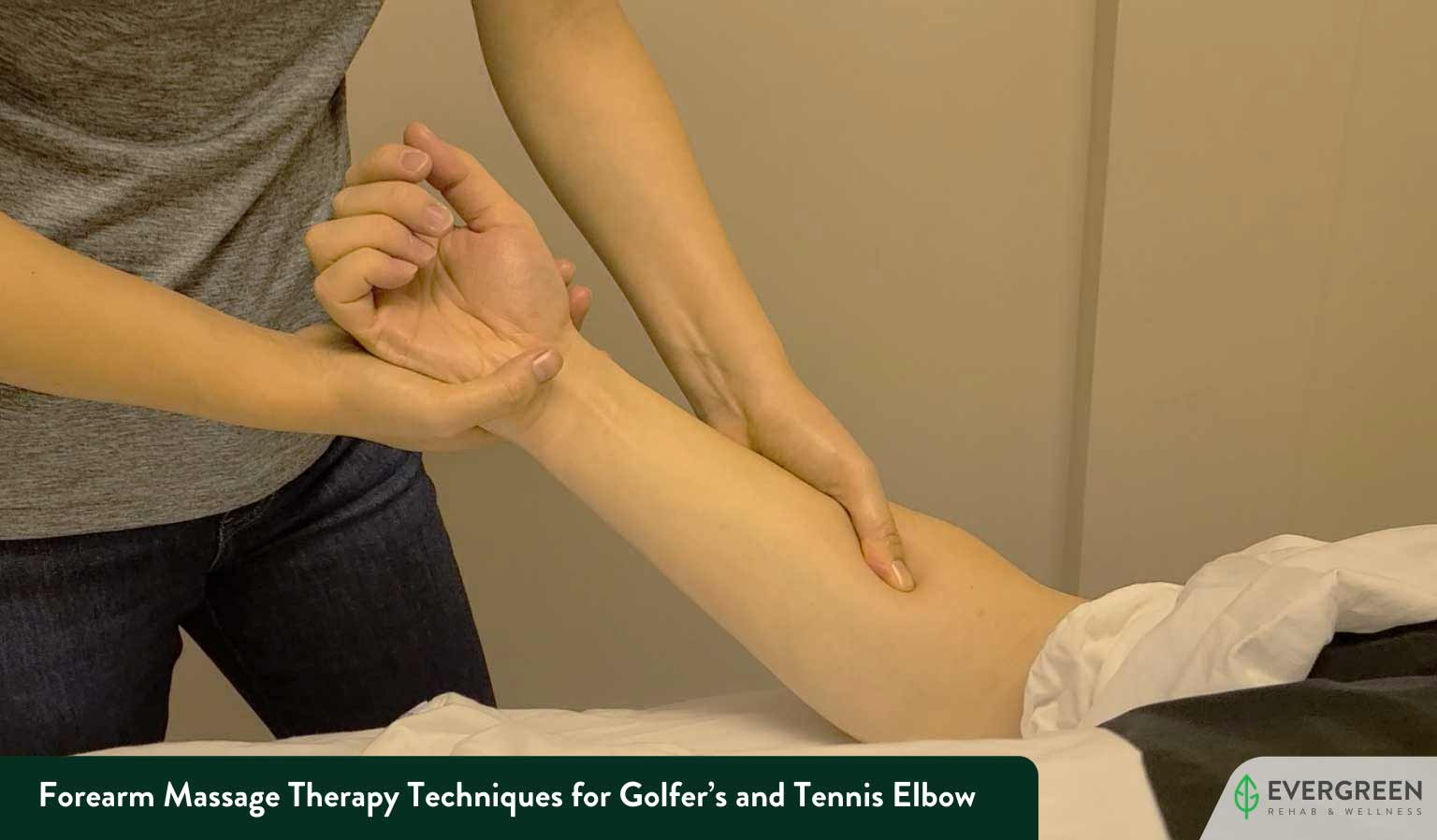 Forearm Massage Therapy Techniques for Golfer's and Tennis Elbow
