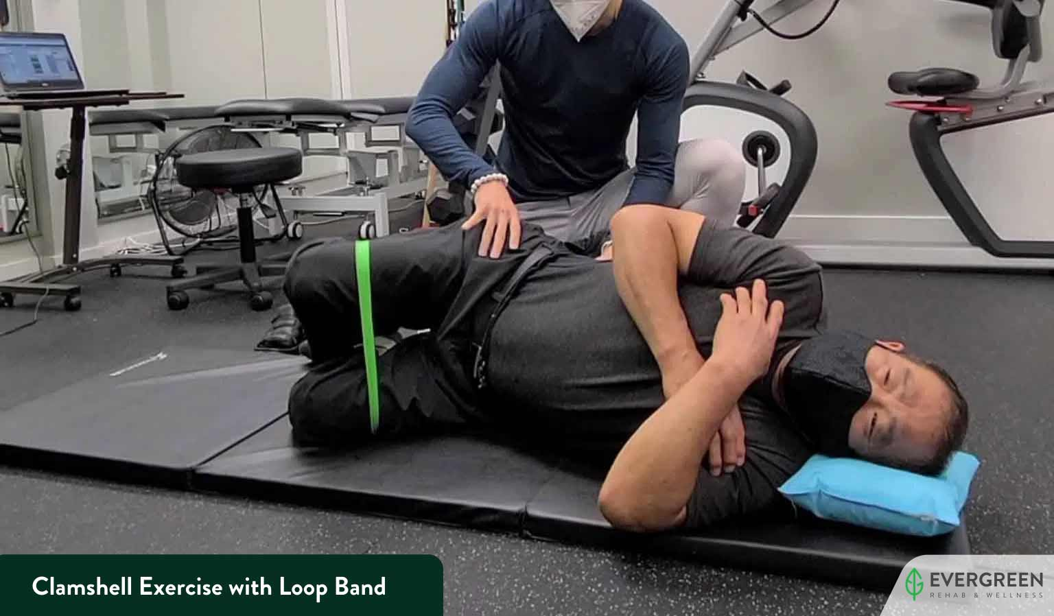 Clamshell Exercise with Loop Band
