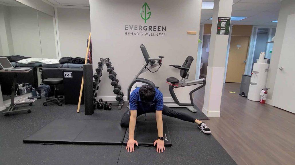 Single-Leg Rock Back Exercise